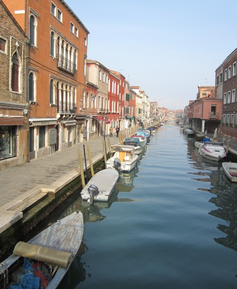 The streets of Murano.