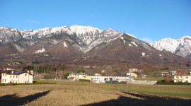 View of Mt. Grappa a mile outside of Campus