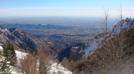 Beautiful view from the top of Mt. Grappa