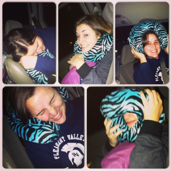 Every possible use for a neck pillow.