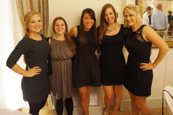 Girls at the Formal Dinner
