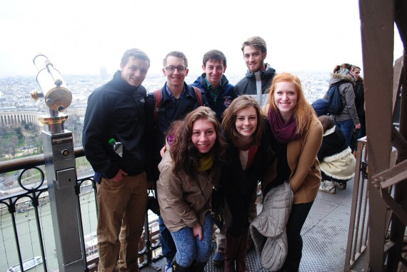 Group on the Eiffel Tower