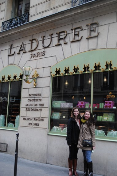 Me and my girl Kim posing for our favorite macaroons