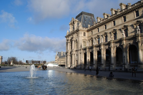 The Louvre seems to go on for miles and miles