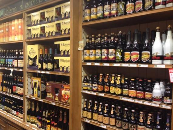 Belgian beer shop