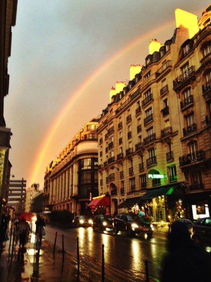 Beautiful Paris rainbow before the sun came out
