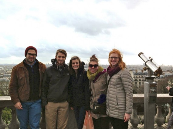 At the overlook at Montmarte