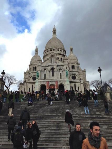 Sacre Coeur overlooking all of Paris