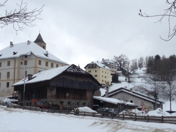 Our snow-covered hotel