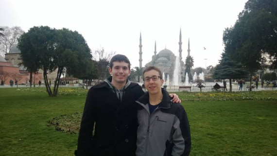 Seamus and I outside the Blue Mosque