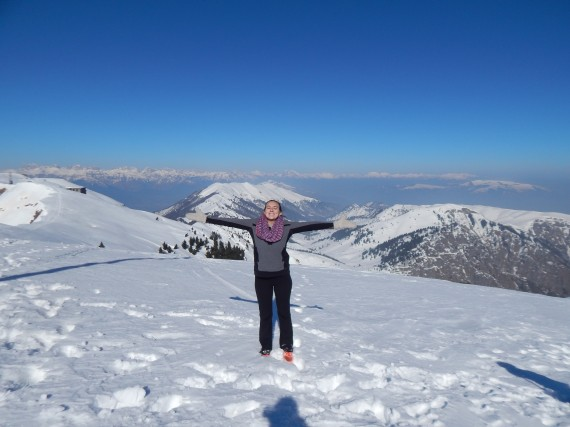 So happy I made it to the top!