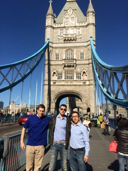 The crew on the London Bridge!