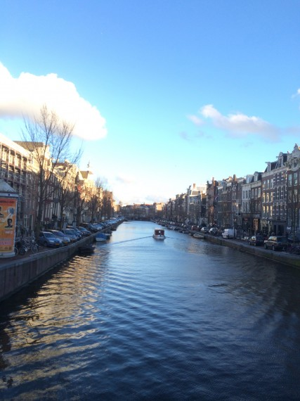 A beautiful canal in Amsterdam!