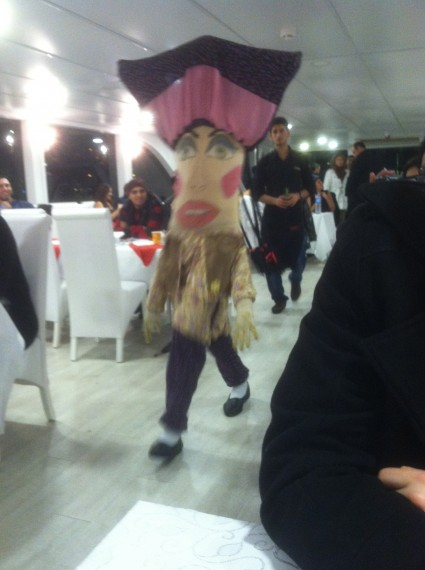 Traditional Turkish skit with the full-body bags!