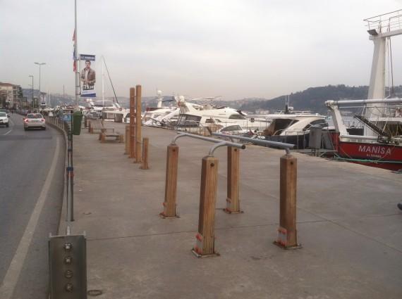 Outdoor gym on the Bosphorus coast in Bebek