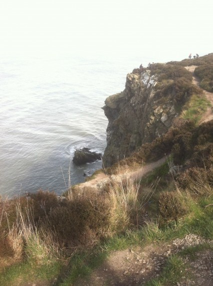 View of the trail in Howth