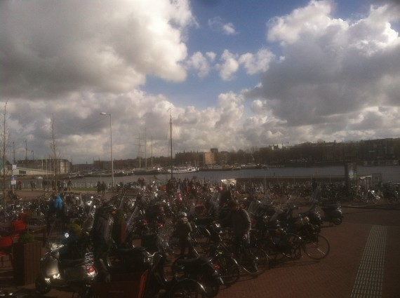 All the bikes in Amsterdam