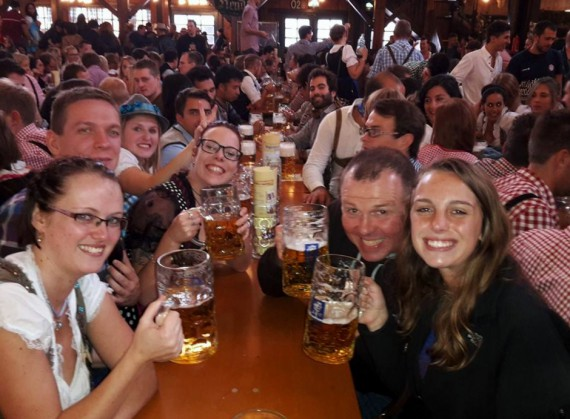 My German friends from the Augustiner tent