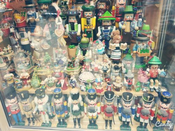 Cute Nutcrakers in the souvenir shop!