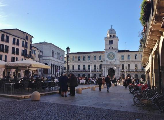 Torre dell'Orologio, the first astronomical clock, overlooking the Piazza dei Signori