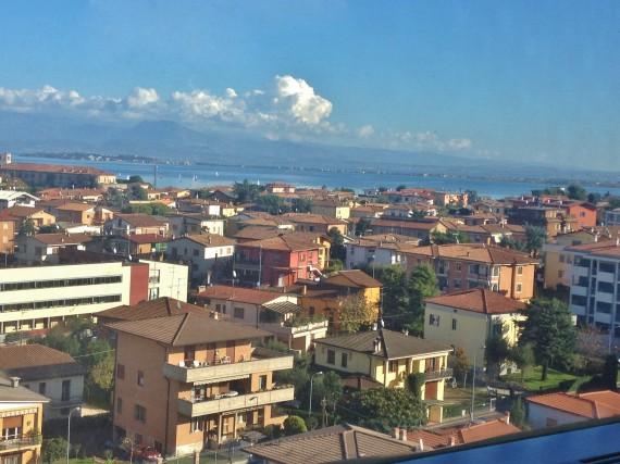 My view of Lake Garda on the train from Milan to Padova.