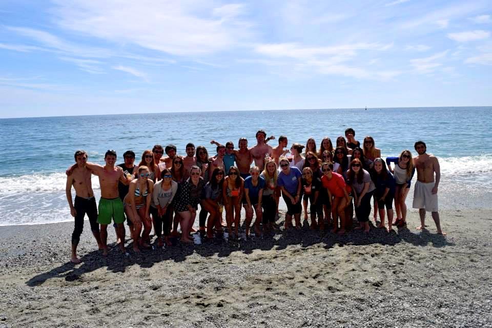 The CIMBA crew in Monterosso al Mare