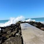 Waves crashing in Levanto