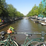 One of many canals in Amsterdam. Definitely a sight to behold, and absolutely stunning.