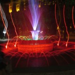 The Fountain by the Bulgarian Presidents Office in Sofia, at night.