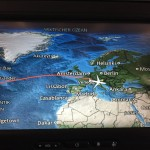 Too often throughout my flight, I found myself utilizing the GPS feature on the screen in front of me. My nerves continued to spike while amidst the ocean waters and foreign lands because it was all so unusual to me.
