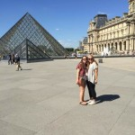 Emma and I at the Louvre on our first day in Paris.