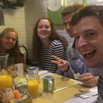 Alex, Emma, Zach and me at a yummy American brunch restaurant called, California Bakery! Another great recommendation from one of our professors. Thanks Professor Caponi!