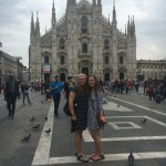 Emma and me outside the Duomo right before we got to go inside!