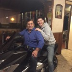 What's more Italian than riding on the back of a motorcycle with a pizzeria owner?