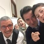 Selfie with Professor Chiariello and Professor Bigolin