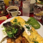 A really yummy omelet we ate in Barcelona, The Milk Bar. If you're in the area its a must!
