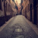 A quiet alleyway we found while taking a shortcut to the Verona Arena