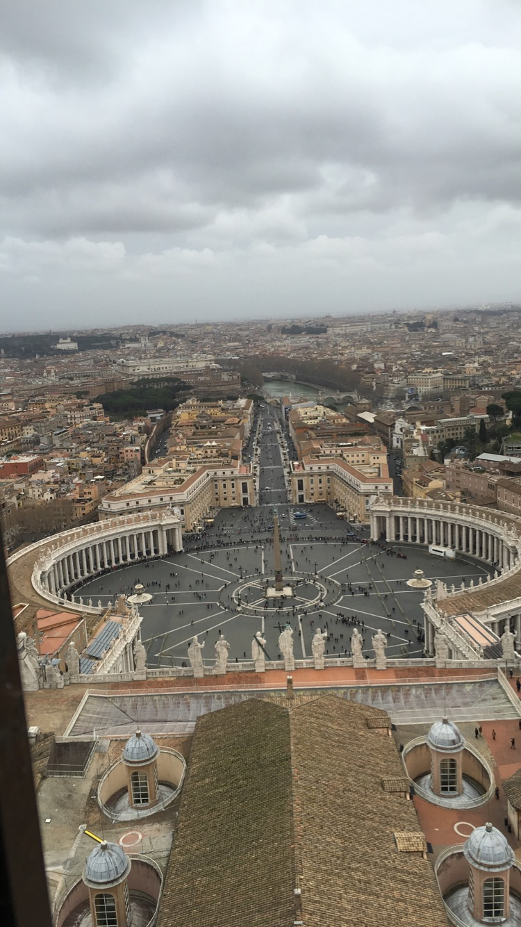 One of the coolest moments of my life: climbing 551 steps to the top of St. Peter's Basilica
