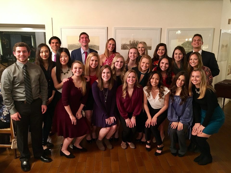 CIMBA's Tippie College of  Business students looking glamorous for our first gourmet dinner