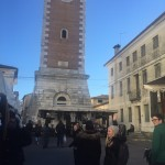 The Bell tower at the Crespano market!