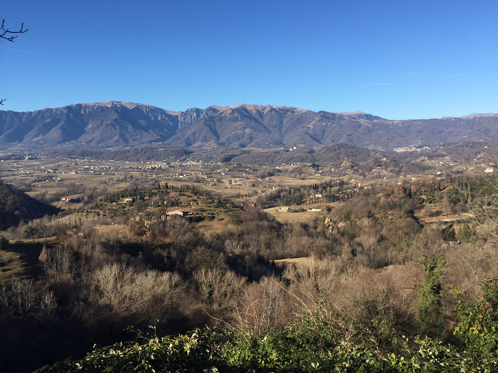 A beautiful view of Crespano, Paderno, Asolo, and the other neighboring towns!