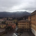 After my weekend in Rome, I came back to a snow covered Mount Grappa!