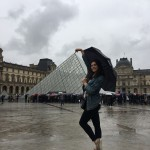 I couldn't possibly leave Paris without taking a cliche tourist picture with the Louvre.