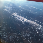 I'll never, ever get tired of flying over the Alps.