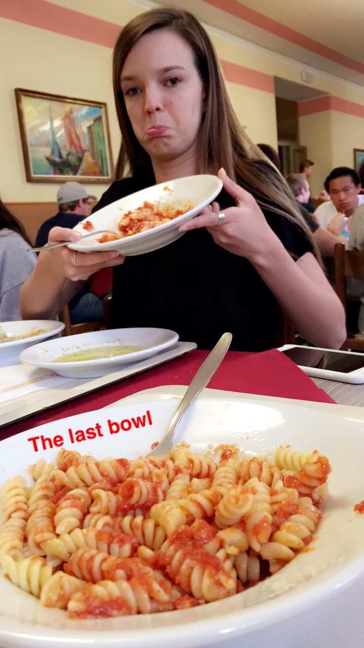 Even though I ate pasta twice a day, every day, I miss it so much!