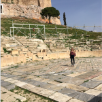 Top moments: Standing in the oldest theatre in the world- Theatre Dionysus in Athens