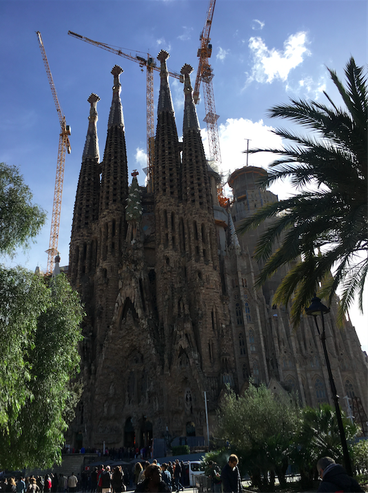 Top moments: Visiting La Sagrada Familia in Barcelona- a church that started construction back in 1882, and STILL isn't finished due to its elaborate detail.