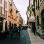 The streets in Verona look like a movie set.