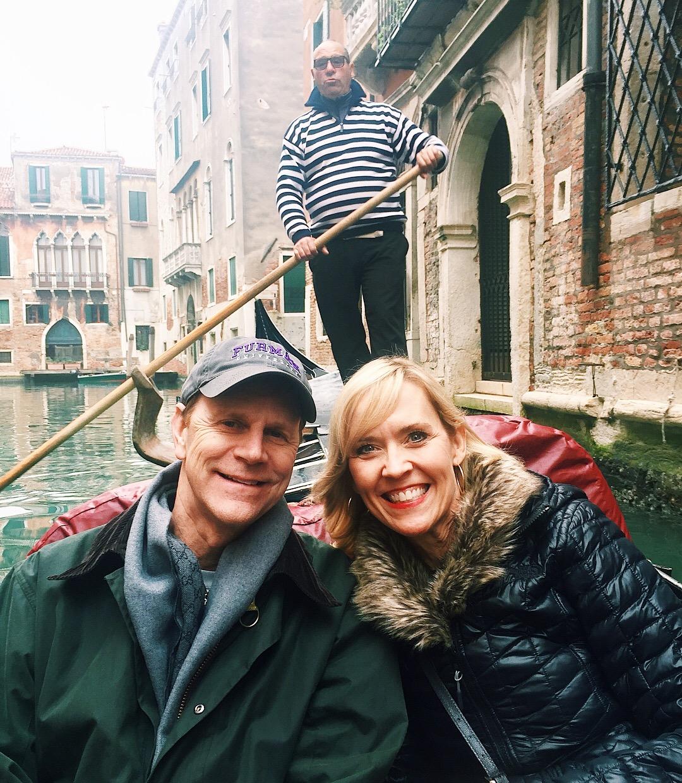 Gondola ride in Venice!